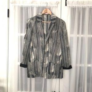 Sass & Bide Comb Print Blazer Jacket